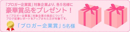 ブロガー企業賞5名様