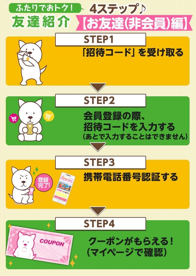 【500円OFF】 あなたもお友達も、ふたりでさらにおトクに!<br />友達紹介キャンペーン!!<br />